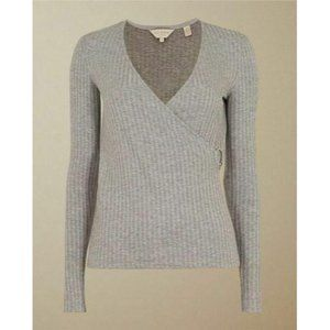 Ted Baker Starlai Ribbed Jersey Wrap Top size 6 Gr